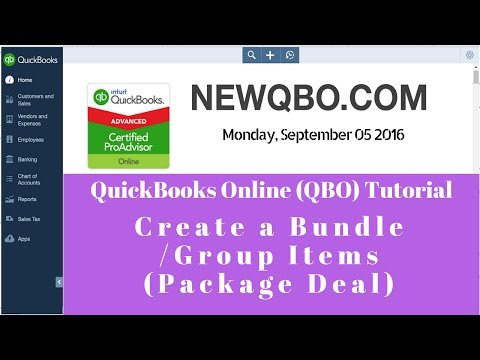 Video: create a bundle, group items, sell package deal