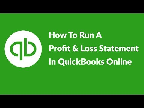 Video: How To Run A Profit And Loss Statement