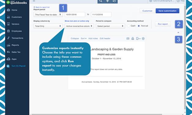 Report Improvements in QuickBooks Online