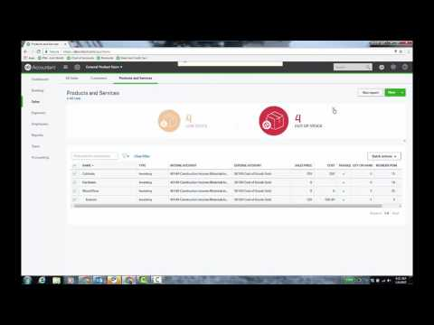 Video: Tracking Products and Services in QuickBooks Online