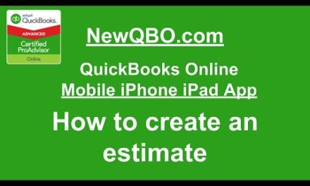 Video:  How to create an estimate