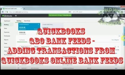 Adding Transactions from Quickbooks Online Bank Feeds