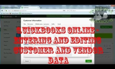 Video: Entering and Editing Customer and Vendor Data