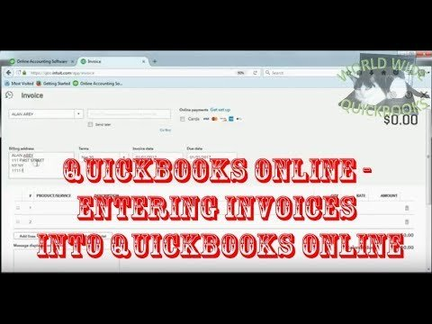 Entering Invoices into QuickBooks Online