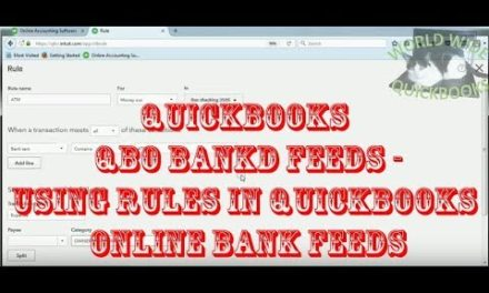 Using RULES in Quickbooks Online Bank Feeds