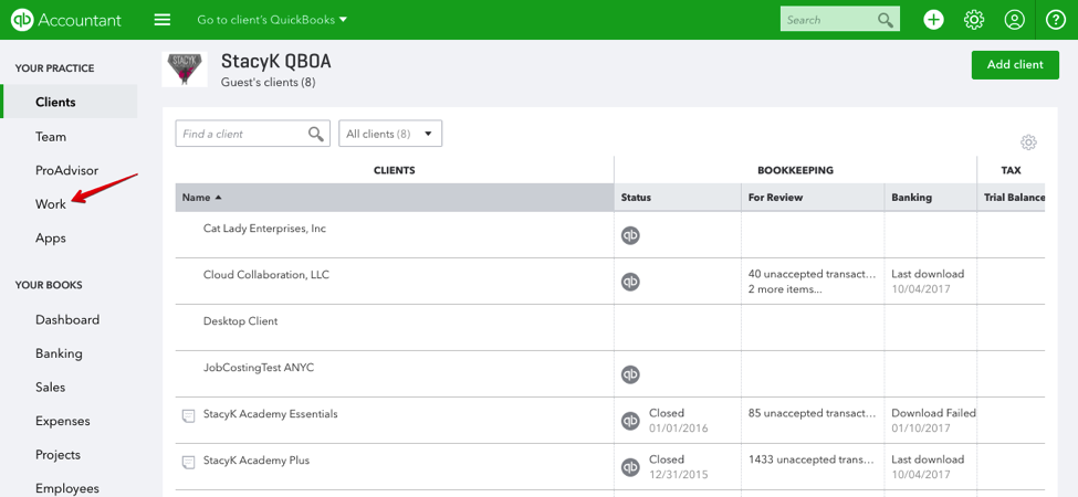All Your Work, All in One Place: Work Tab in QuickBooks Online Accountant