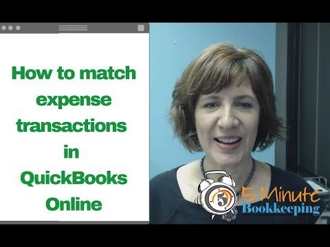 Video: How to match expense transactions in QuickBooks Online (Bank Feeds)