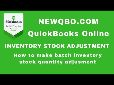 Video how to: make batch inventory stock quantity adjustment after physical count