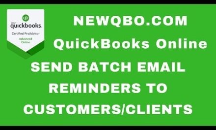 Video: Send customers clients batch reminders by email on past due invoices