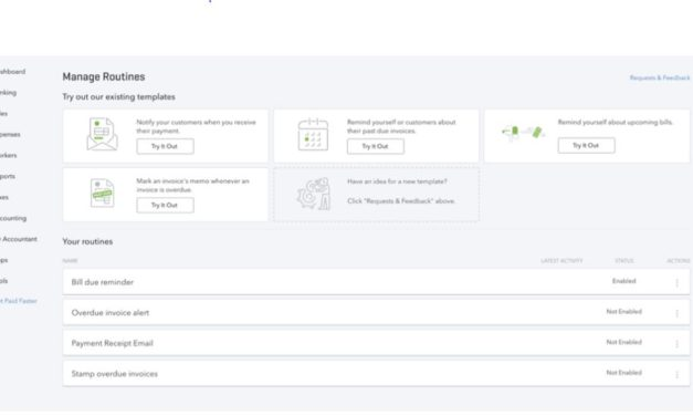 Routines For QuickBooks Online