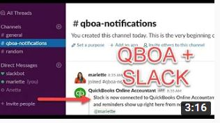 QBOA connects with Slack