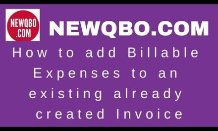 How to add Billable Expenses to an existing already created Invoice