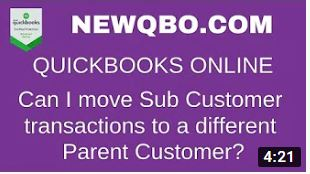 Move Sub Customer transactions to a different Parent Customer