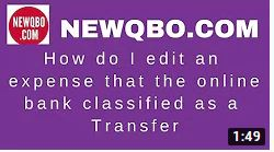How to Correct a Bank Classified Transfer to an Expense