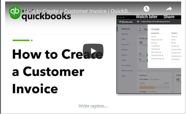 How to Create a Customer Invoice