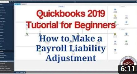 How to Make a Payroll Liability Adjustment