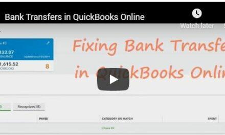Bank Transfers in QuickBooks Online