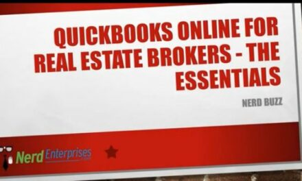 QuickBooks Online for Real Estate Brokers – The Essentials