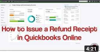 How to Issue a Refund Receipt in Quickbooks Online