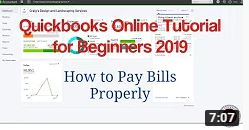 Quickbooks Online Tutorial for Beginners 2019 – How to Pay Bills Properly