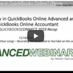 What is New in QuickBooks Online? (November 2019 #QBConnect Edition)