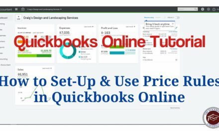 Quickbooks Online Tutorial – How to Set-Up & Use Price Rules in Quickbooks Online