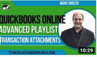 QuickBooks Online File Attachments