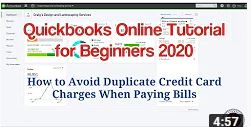 Quickbooks Online Tutorial for Beginners 2020 – How to Avoid Duplicate Credit Card Charges