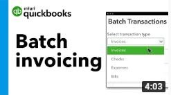 How to create invoices in a batch in QuickBooks Online Advanced