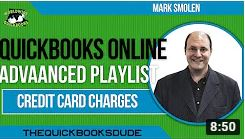 QuickBooks Online Credit Card Charges With Credits And Payments