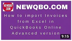 How to import INVOICES from Excel in QuickBooks Online Advanced