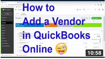 How to add a vendor in Quickbooks Online