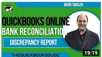 QuickBooks Online Bank Reconciliation Discrepancy Report