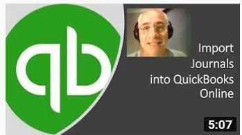 How to import journals into QuickBooks Online