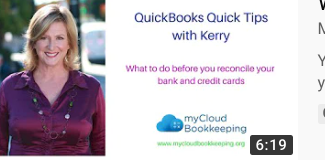 What do I do before I reconcile my bank in QuickBooks Online?