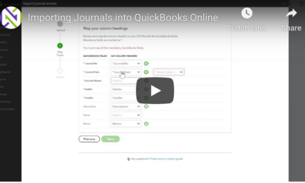 Importing Journals into QuickBooks Online
