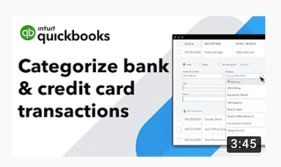 How to categorize transactions from your bank or credit card in QuickBooks Online