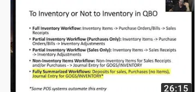 To Inventory or Not Inventory in QBO