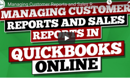 Managing Customer Reports and Sales Reports with this QuickBooks Online Tutorial