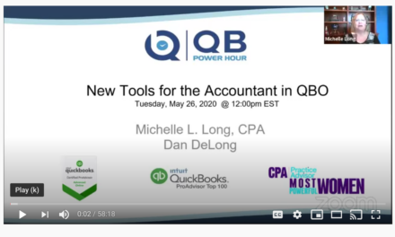 QB Power Hour – New Tools for the Accountant in QBO
