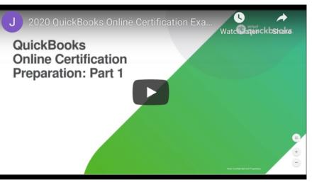 2020 QuickBooks Online Certification Exam Prep Training Part 1
