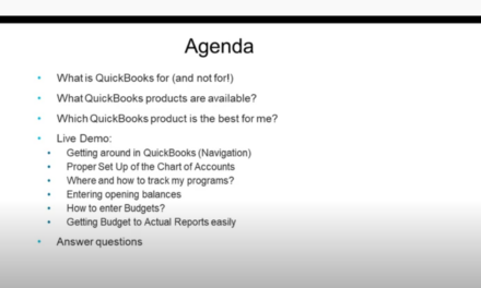 QuickBooks Online for New Nonprofit Users