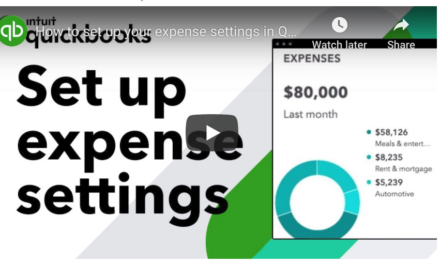 How to set up your expense settings in QuickBooks Online
