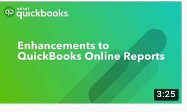Enhancements to QuickBooks Online reports
